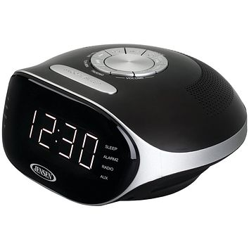Jensen Digital Bluetooth Am And Fm Dual Alarm Clock Radio