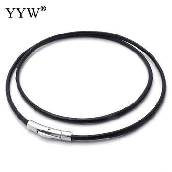 3mm Leather Cord Necklace for Women Long Punk Cool Necklace Choker Black Cord Leather Rope Chain DIY Jewelry Necklace Making