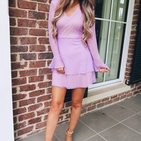 Bunny Kisses Dress: Lavender