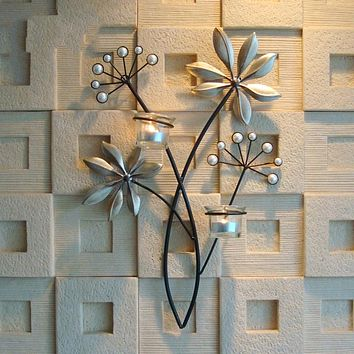 Wall Mural Candle Holder