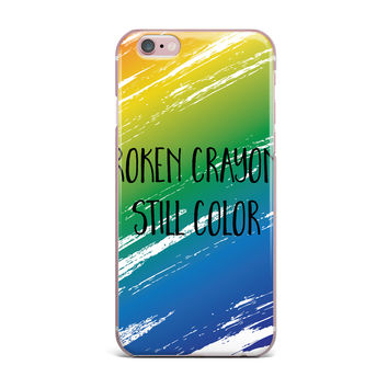 "NL designs ""Broken Crayons"" Blue Abstract iPhone Case"