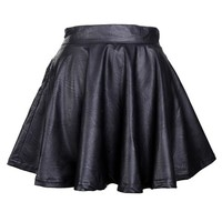 Faux Leather Skater Skirt from ShopWunderlust