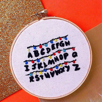 Stranger things embroidery hoop art/Stranger things wall decor /Eleven hand stitched wall hanging
