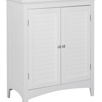 Elegant Home Fashions Slone Floor Cabinet with Two Shutter Doors - White