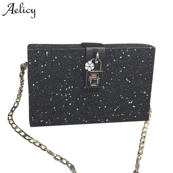 Aelicy Brand Bag Women Messenger Bags  Handbags crossbody bags for Women Shoulder Bags Designer Handbags with Bling Sequins