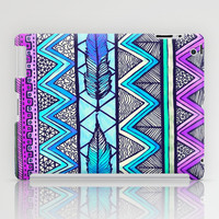 Two Feathers (color version 3) iPad Case by Lisa Argyropoulos