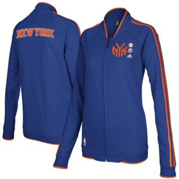 adidas New York Knicks Ladies On Court Full Zip Track Jacket - Royal Blue
