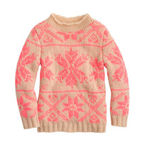 GIRLS' SNOWFLAKE MOCKNECK SWEATER
