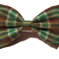 Oversized Bow - Plaid, Mint, Chocolate Brown, Cream - Fabric Hair Bow, Womens, Fall Fashion, Big, Huge, Hipster, Hair Bow for Teens