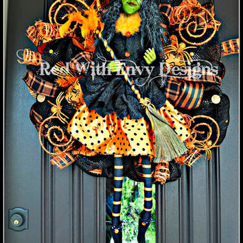 Halloween Witch Wreath, Halloween Wreath, Halloween Decoration, Witch Wreath, Witches, Witches Decoration, Witch Decor