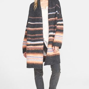 Women's Free People Stripe Alpaca Blend Coat,