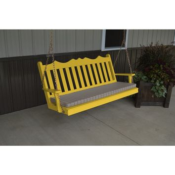 A & L Furniture Co. Yellow Pine 4' Royal English Garden Swing  - Ships FREE in 5-7 Business days