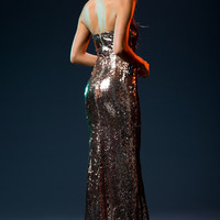 Cosmic Sequin Gown