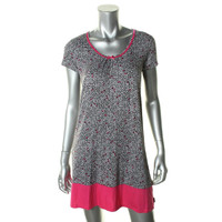 DKNY Womens Jersey Printed Nightgown