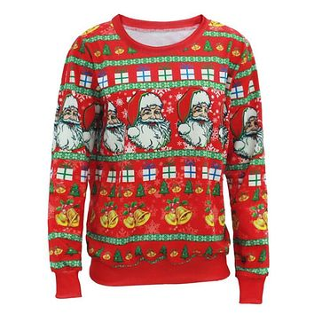 Unisex Sweaters Fashion Santa Claus X-mas Tree Reindeer Patterned Sweater Ugly Christmas Sweaters For Men Women Pullovers Y3