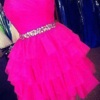 Custom Made Sweetheart Neck Short Prom Dresses, Short Homecoming Dresses