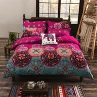 Bohemian Style Floral Cover Set