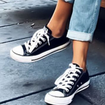 Converse All Star Sneakers canvas shoes for women sports shoes low-top black
