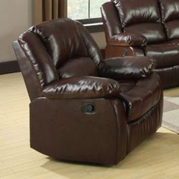 Winslow Rustic Brown Bonded Leather Match Recliner Chair