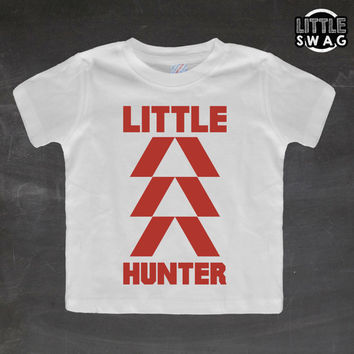 Little Hunter Red (white shirt) - toddler apparel, kids t-shirt, children's, kids swag, fashion, clothing, swag style