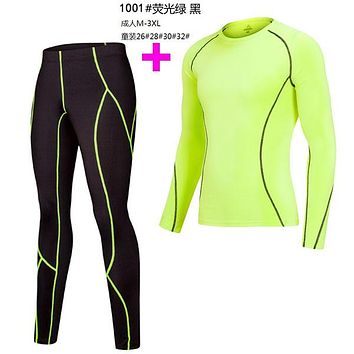 2017 18 Thermal Underwear Men Underwear Sets Compression Underwear Men Fitness Clothing Size M-3XL