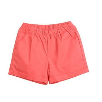 Hot Shorts Fashion Summer Women Cotton  Casual Elastic Waist Candy Solid Color Short Pants H9AT_43_3