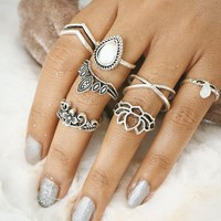 Gift Shiny Stylish New Arrival Jewelry Hot Sale Hollow Out Floral Geometric Accessory Ring [11485882383]
