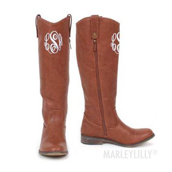 Monogrammed Equestrian Style Riding Boot | Marleylilly