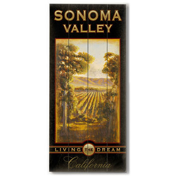 Sonoma Wine by Artist Cory Steffen Wood Sign