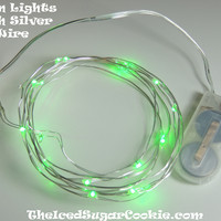 Green LED Battery Operated Fairy Lights