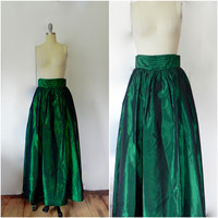 Rental or Purchase Bill Blass Evening Emerald Green Skirt.