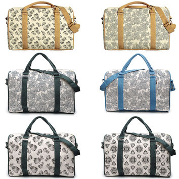 Floral Seamless Patterns Print Oversized Canvas Duffle Luggage Travel Bag WAS_42
