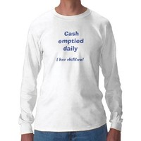 Cash emptied daily men's t-shirt from