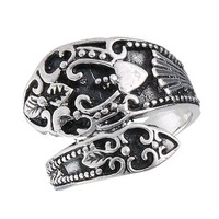 .925 Sterling Silver Traditional Spoon Style Cast Ring, Size 8