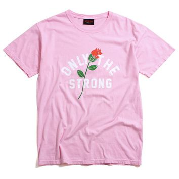 Only The Strong Pigment Dyed T-Shirt Pink