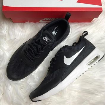 Nike Air Max Thea Black Premium Leather SneakersNWT black-white 8c0a2f0f9104