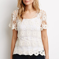 Daisy Open-Crochet Top