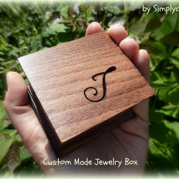 wedding ring box, custom ring box, personalized gift box, gift box, wooden box, small jewelry box, bridesmaids gift, wedding favor,
