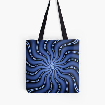 'Blue Energy Fractal Art' Tasche by gabiwArt