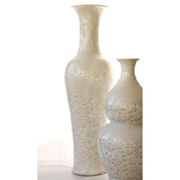 Tozai Home UNI169-W Mother of Pearl Effect Long Necked Vase