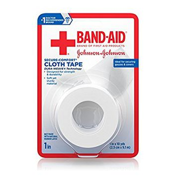 Band-Aid Brand Of First Aid Products Cloth Tape For Securing Bandages, All-Purpose, 1 Inch By 10 Yards (Pack of 6)
