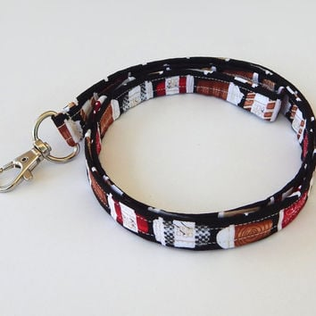 Coffee Lanyard / Latte / Coffee Cup Keychain / Mocha / Coffee Print / Key Lanyard / ID Badge Holder / Cute Lanyards