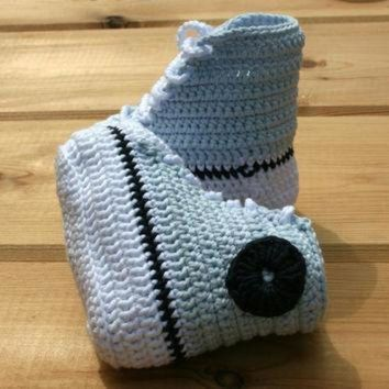 ICIKGQ8 newborn baby crochet booties pure cotton converse style basketball baby booty baby sho