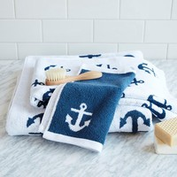 Anchor Jacquard Towel