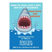 Shark Birthday Party Invitaitons