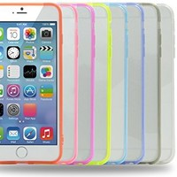 iPhone 6 Plus Case, iPhone 6S Plus Case, Costyle 8pcs 8 Colors Anti-Scratch Soft Slim Clear Back Case with Bumper Cover For iPhone 6/6S Plus 6+ 5.5 Inch-Black White Pink Hot Pink Purple Green Blue Red