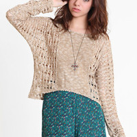 Watson Knit Oatmeal Sweater - $19.99 : ThreadSence, Women's Indie & Bohemian Clothing, Dresses, & Accessories