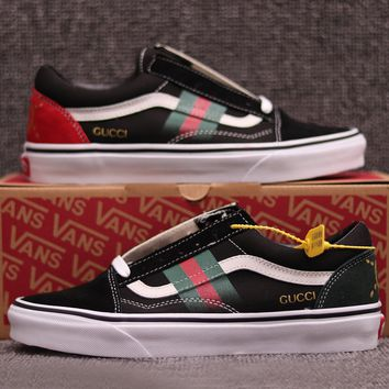 Vans X GUCCI Classic Old Skool Flats Sneakers Sport Shoes