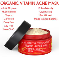 Organic Vitamin Acne Mask - Unscented - Highest Purity Organic Ingredients