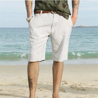 2017 new shorts men summer beach men's linen shorts men's casual short pants summer men beach shorts comfortable brand clothing